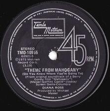 Diana Ross ORIG OZ 45 Theme from Mahogany EX '75 Motown Soul TMO10955