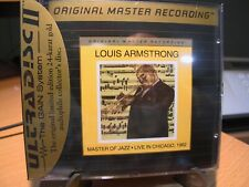24K Gold CD MFSL UDCD-710 Louis Armstrong Master Jazz Live Chicago Vol. 1 Sealed