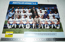 CLIPPING POSTER FOOTBALL 1989-1990 MONTPELLIER HERAULT MHSC LA PAILLADE MOSSON
