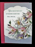 Beautiful Happy Mother's Day Card w/Flowers -  You Make Everyone Feel Special