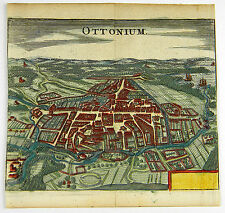 Odense Denmark Syddanmark KOL Copperplate view zeiller Merian 1656 #d863s