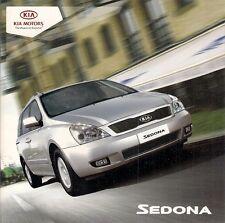 Kia Sedona 2009-11 UK Market Sales Brochure 2.2 CRDi 1 2 3