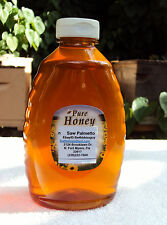 2 Lbs Raw Unfiltered Unpasteurized Artisan SW FLA Saw Palmetto Honey