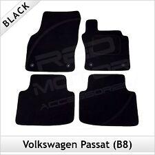 VW Passat B8 2014 onwards Fully Fitted Tailored Carpet Car Floor Mats BLACK