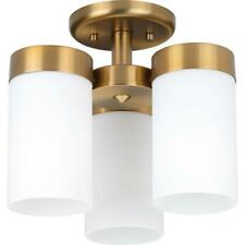 Progress Lighting Elevate 3-Light Brushed Bronze Flush Mount