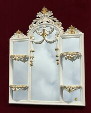 Wall Mirror with Console Tray Cream Gold 60x51 Mirror Antique White C510