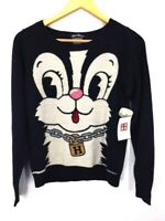 HYSTERIC GLAMOUR Rabbit Thin Knit Women Black UsedExcellent Condition