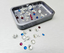 STONE TRAYS for SORTING DIAMONDS & STONES ORGANIZER STACK-ABLE MACHINED ALUMINUM