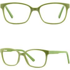 Eckig Herren Damen Brille Fassung Plastik Brillengestell Gestell Federbügel Grün