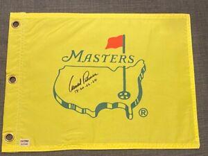 "Arnold Palmer ""58-60-62-64"" - Signed Inscribed Undated Masters Flag - PSA"
