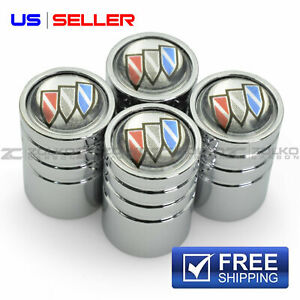 VALVE STEM CAPS WHEEL TIRE CHROME FOR BUICK - US SELLER