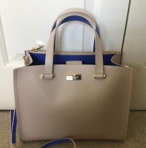 Kate Spade Cream & Cobalt Leather Hand/Shoulder Bag, BRAND NEW