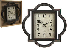 LARGE QUARTZ Double Frame Rectangle Wall Clock