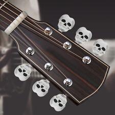 6X Guitar String Tuning Pegs Skulls of Death Machine Heads Keys w/ Screws SILVER