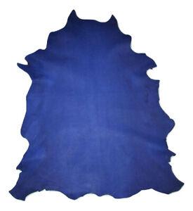 Thin 2 oz Economy Blue Pebble Grain Sheepskin Leather Hide Bookbinding Bible