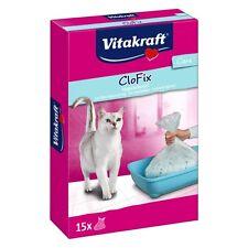VITAKRAFT CloFix Beutel für Katzentoilette - 15 Beutel Katzenklo Katzen Toilette