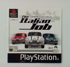 *FRONT INLAY ONLY* The Italian Job Front Inlay  PS1 PSOne Playstation