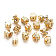 10Pcs Gold Plated Cute Mixed Beads Fit European Charm Bracelet