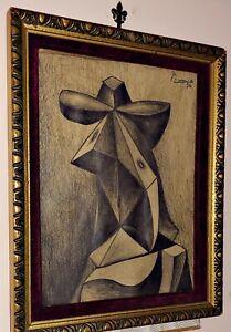 Pablo Picasso Pencil Graphite On Original Paper Hand Signed Vintage,After