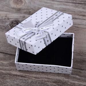 1pc White Jewellery Box Pendant Ring Necklace Earring Bracelet Jewellry Gift Box