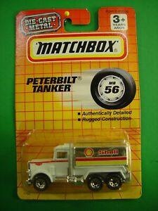 Matchbox #56 Peterbilt Shell Tanker Truck 1/64 Diecast Mint on Card BX61