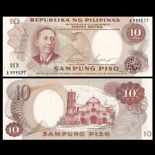 Philippines 10 Pesos, ND(1969), P-144a, Banknote, UNC