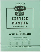 Owners and Mechanics Service Manual for 9N and 2N Ford Tractor