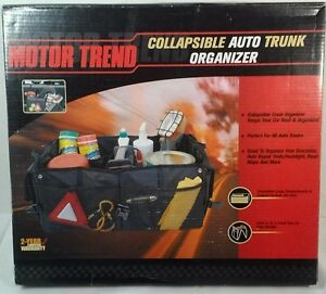 Motor Trend Black Collapsible Auto Trunk Folding  Organizer New