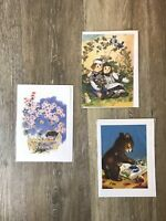 Laughing Elephant Greeting Cards Birthday New Baby Lot of 3