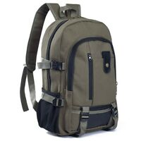 Vintage Canvas Men's Backpack Satchel Outdoor Travel Hiking Rucksack School Bag