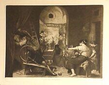 LAS HILANDERAS.  Velazquez pintó, Galván 1875.