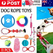 11x Set Dog Toys Puppy Toys Dog Ball Tough Dog Toys Rope Durable Chew Teeth Kit