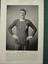 1897 PRINT FAMOUS FOOTBALLERS ~ DAVID RUSSELL BROXBURN TEAM MIDLOTHIAN CLUB