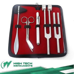 5pc Tactical Diagnostic Kit, Tuning Forks, Taylor Hammer, Bandage Scissors Set