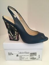 Calvin Klein Caralee Dark Blue Sling Back Heels Size 7