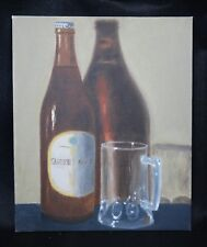 Original student oil painting Impressionistic still-life bottle and stein 7of9