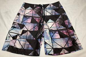 Hurley for Buckle Men's Purple, Blue, Black Board Shorts Size 32 Swim Trunks