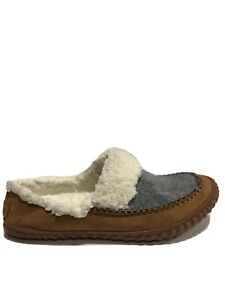 Sorel Women's Out N About, Gray/Brown Slide Slippers, Size 11M.