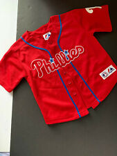 PHILADELPHIA PHILLIES CHILDS BUTTON FRONT JERSEY   SIZE 4