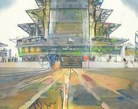 PRINT Indianapolis Motor Speedway Indy 500 Pagoda Fine Wall Art Painting 11x14