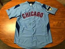 MENS USED MAJESTIC COOPERSTOWN RYNE SANDBERG CHICAGO CUBS JERSEY SIZE MEDIUM