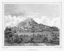 Homberg/efze, view with Church St. Marien, Original Steel Engraving from 1850