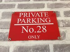 PERSONALISED CUSTOMISED ACRYLIC PRIVATE NO PARKING SIGN WEATHERPROOF - 3 x Sizes