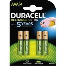 4 x Duracell rechargeable batteries AAA 850mAh NiMH - Pre-charged-new sealed
