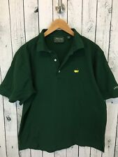 THE MASTERS Collection Short Sleeve Polo Golf Shirt Pima Cotton Green Sz Med C1