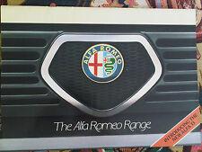 Alfa Romeo Range Brochure 1983 Alfasud 33 Sprint Gtv Gtv 6 Giulietta