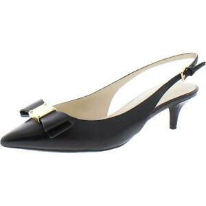 Cole Haan Womens Tali Bow Leather Slingback Evening Pumps Shoes BHFO 5009