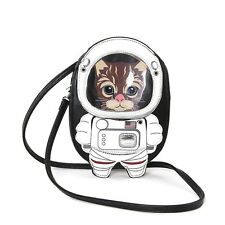 Austronaut Kitty Cat Kitten Space Suit Cross Body Purse Handbag