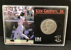 Ken Griffey, Jr 2001 Highland Mint Solid Nickel Silver Coin in Plastic Case
