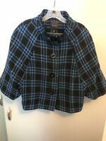 The Limited Women's Small Jacket Button Front Black/Blue Size Small~Free Ship